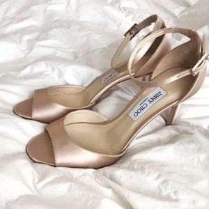Jimmy Choo Satin Annie Pumps
